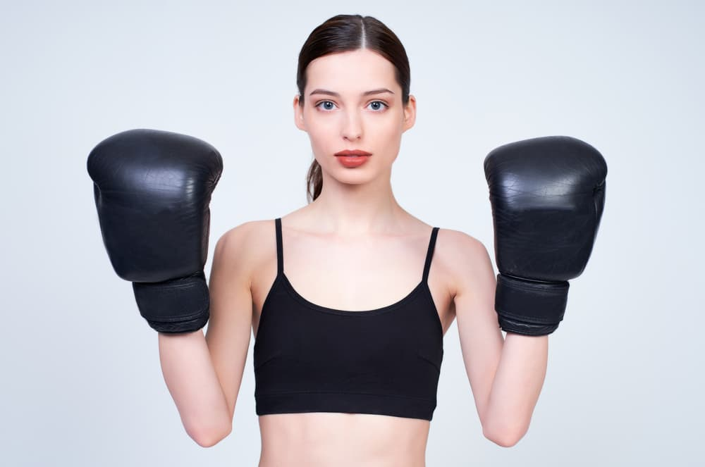 自宅でもキックボクシングトレーニング