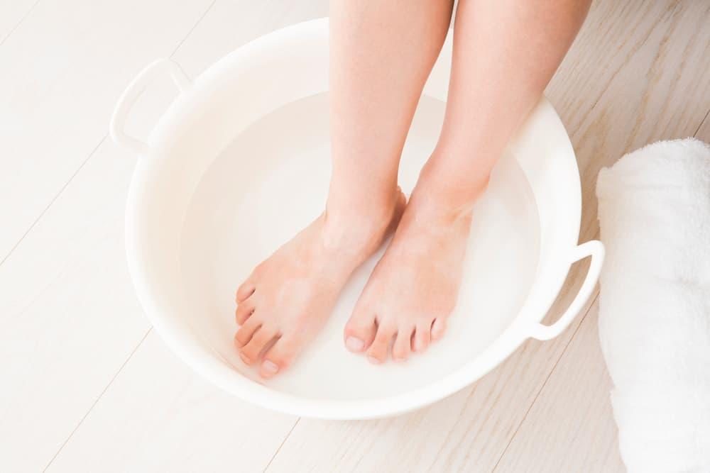 足湯やタオル浴でよりポカポカに