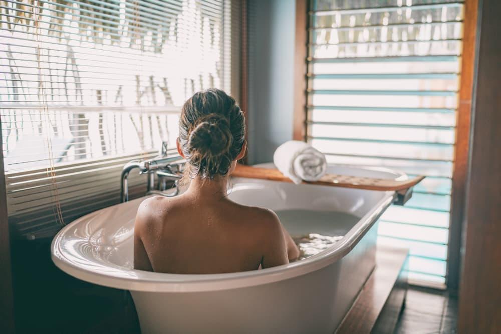 お風呂で体を温める